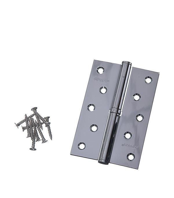 Петля левая Apecs B-STEEL-CR-L хром 120х80 мм дверная задвижка apecs l 0260 cr 00016890