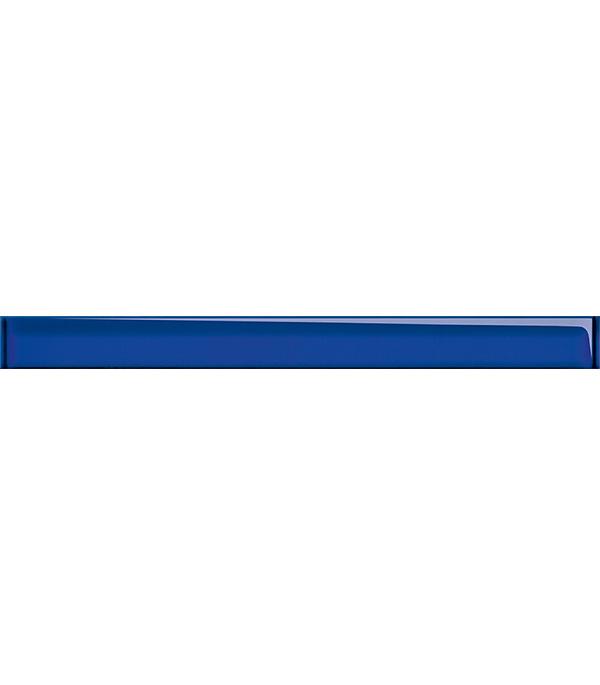 Купить Плитка декор стеклянный Universal Glass 450х40х8 мм синяя, Cersanit, Синий