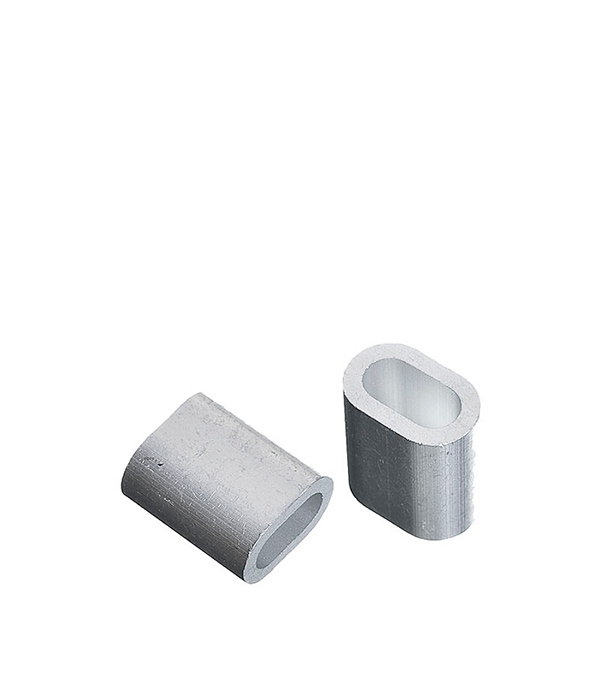 Зажим троса DIN 9093 прижимной 4 мм (2 шт) сетка волейбольная glav 03 200 любительская нить d 2 мм без троса