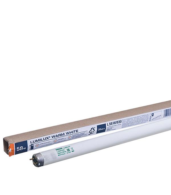 Люминесцентная лампа Osram Lumilux 58W 3000K теплый свет d26 Т8 G13 1500 мм лампа люминесцентная 30вт g13 l 840 lumilux osram 4к