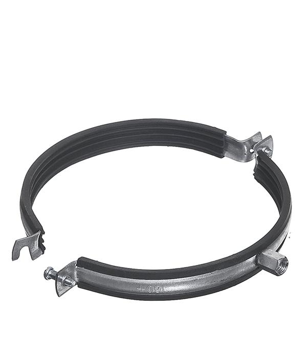 Хомут для монтажа круглых стальных воздуховодов d160 мм врезка оцинкованная для круглых стальных воздуховодов d125х100 мм