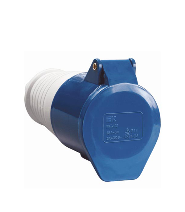 Розетка кабельная IEK 230В 2P+E 16А IP44 розетка кабельная 16а 3p e 380в 214