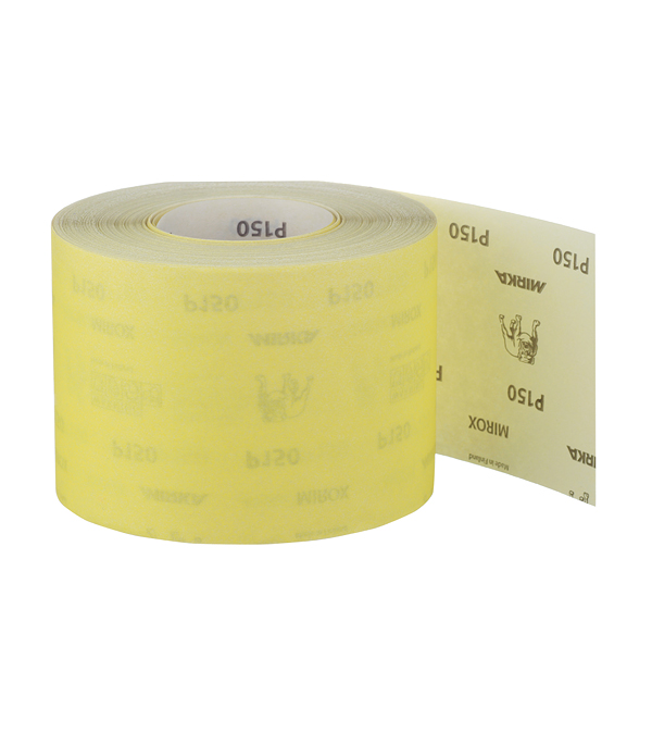 Наждачная бумага Mirox Mirka P150 желтая 115 мм