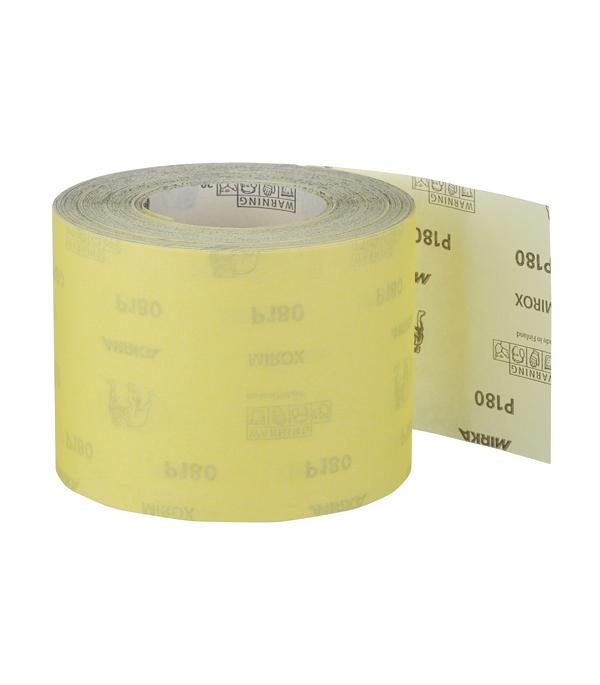 Наждачная бумага Mirox Mirka P180 желтая 115 мм 50 м bosch наждачная бумага