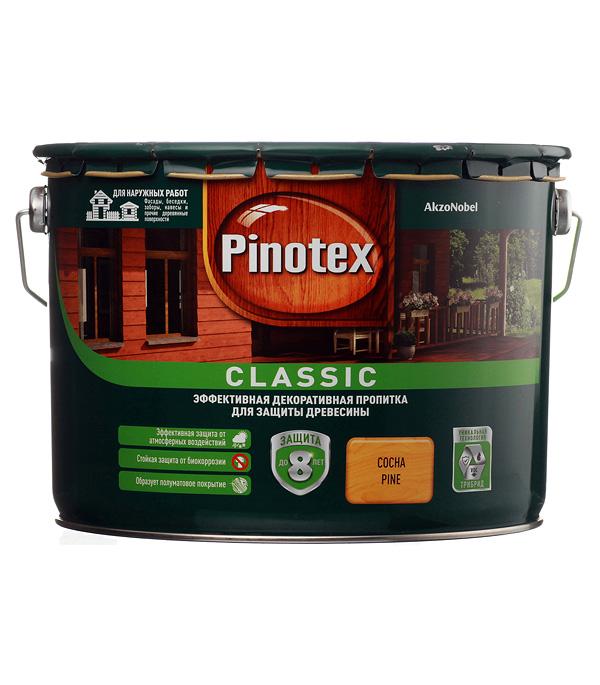 Декоративно-защитная пропитка для древесины Pinotex Classic сосна 9 л