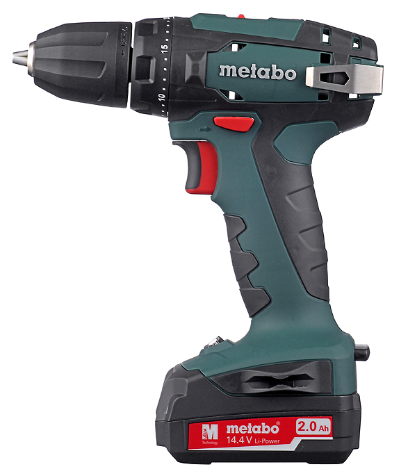 Купить Дрель-шуруповерт аккумуляторная Metabo BS 14.4 В 2.0 Ач 40 Нм Li-Ion с набором