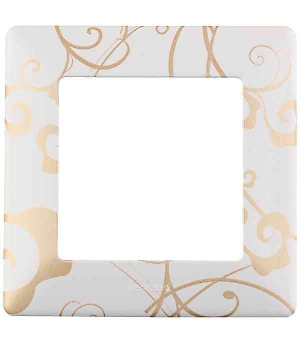 Рамка одноместная универсальная Legrand Valena LIFE ампир белый рамка 4 постовая legrand valena life алюминий 754134