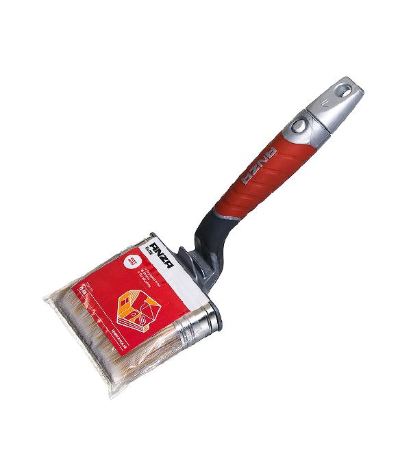 Кисть изогнутая Anza 100х30 мм искусственная щетина прорезиненная ручка кисть для наружных работ anza elite 100 мм 347490