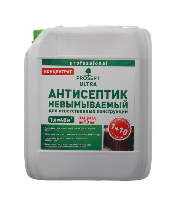 Антисептик Prosept Ultra невымываемый концентрат 1:10 5 л пинотекс ultra антисептик орех 1 л