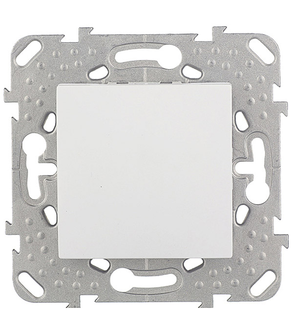 Купить Механизм переключателя одноклавишного проходного Schneider Electric Unica с/у белый, Белый