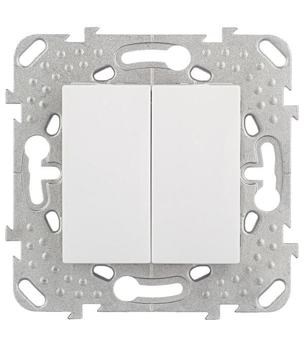 Механизм переключателя двухклавишного Schneider Electric Unica с/у белый механизм переключателя одноклавишного проходного с у schneider electric unica белый