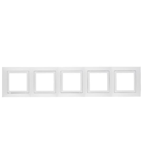Рамка пятиместная Schneider Electric Unica белая