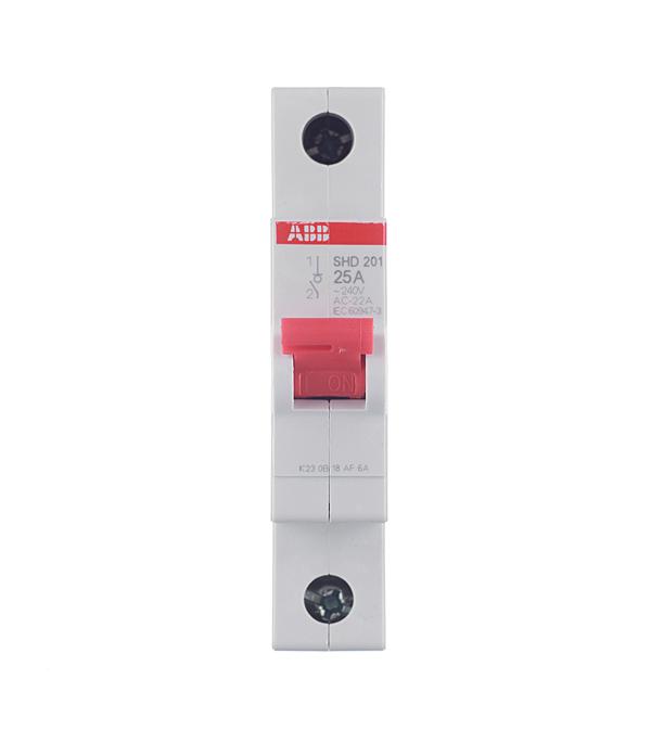 Рубильник 1P, 25А, SDH201r, ABB автоматический выключатель 1p 25а dekraft