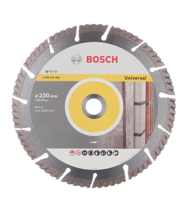 Диск алмазный сегментный универсальный Bosch Профи 230х22,2 мм диск алмазный сегментный универсальный 180х22 2 мм bosch профи