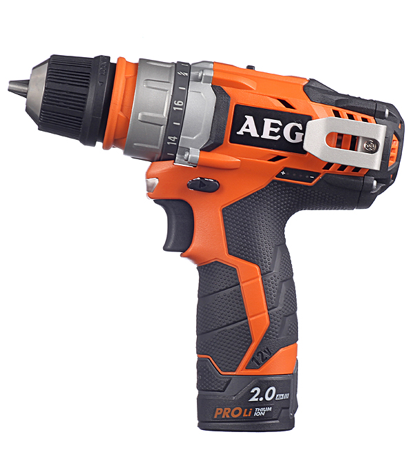 цена на Дрель-шуруповерт аккумуляторная AEG BBS 12C2 LI-202C KIT 12 В 2.0 Ач 32 Нм Li-Ion