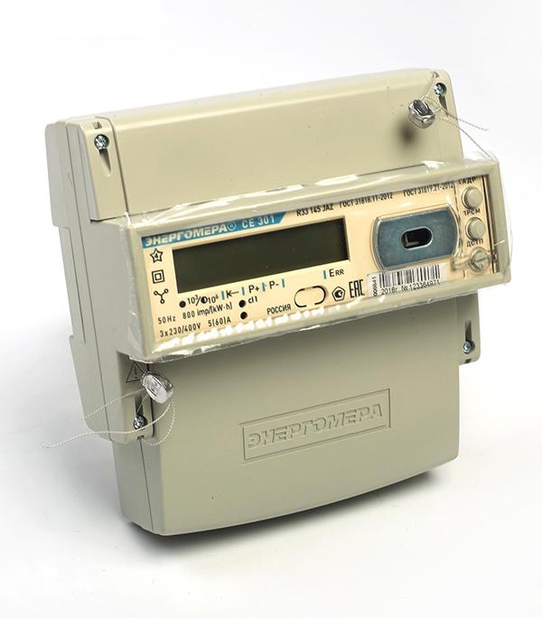 Счетчик электроэнергии Энергомера CE301 R33 145-JAZ трехфазный многотарифный