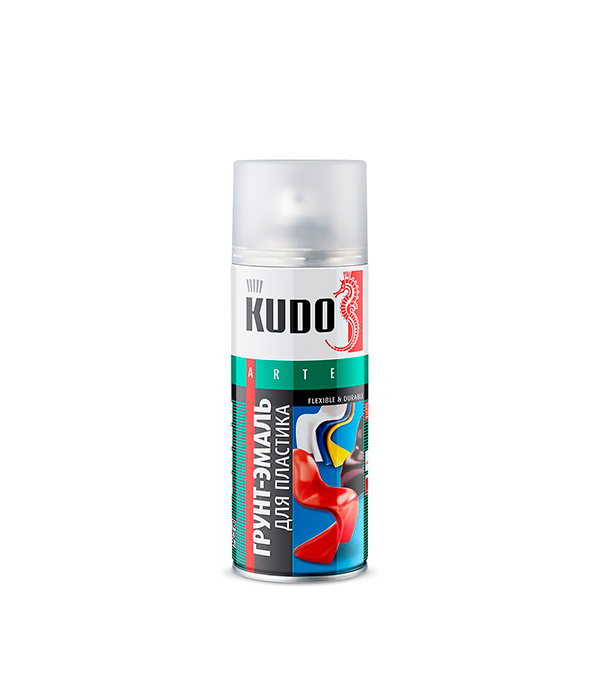 Грунт-эмаль для пластика Kudo RAL 7031 серая аэрозольная 520 мл грунт kudo 2003 универсальный алкидный 520мл черный