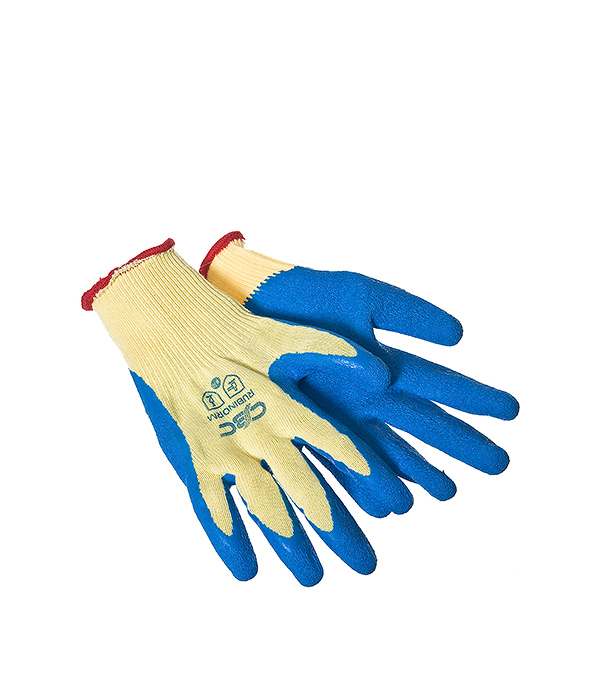 Хлопчатобумажные перчатки Комфорт с латексным покрытием повышенная прочность хлопчатобумажные перчатки облитые пвх мбс манжета на резинке