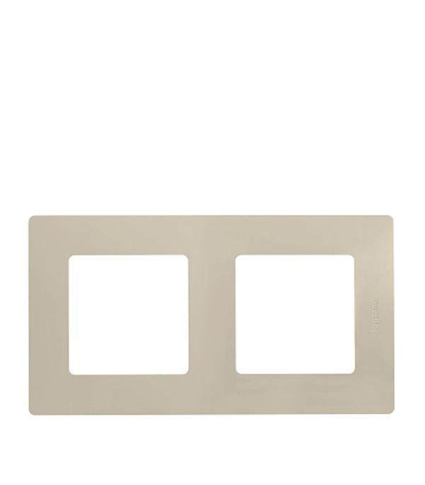 Рамка двухместная универсальная  Legrand Etika слоновая кость рамка legrand etika с защитной крышкой ip44 белый 672550