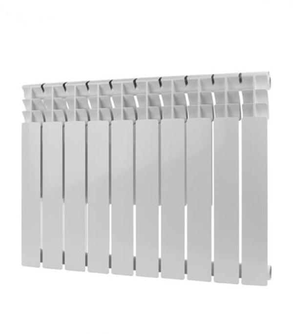 Радиатор биметаллический Rommer  Optima 1 500/78, 10 секций, шт. радиатор отопления rommer optima bm 500 биметаллический 8 секций