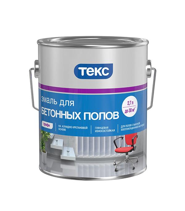 Эмаль для бетонных полов алкидная красно-коричневая Профи Текс 2,7 л