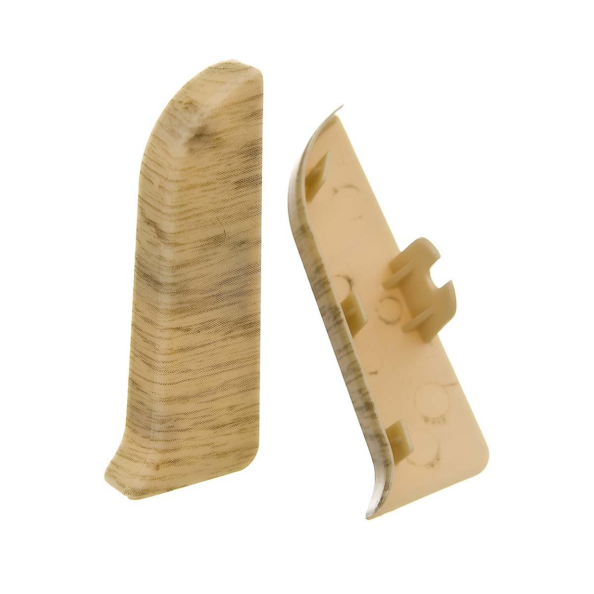 Заглушки торцевые (левая+правая) к плинтусу 68 мм дуб беленый Nexus
