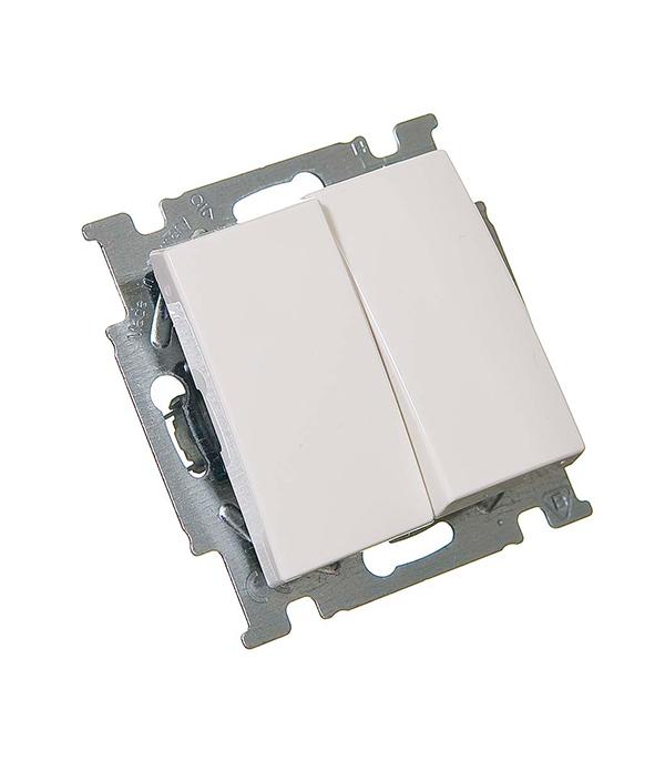 Механизм выключателя двухклавишного с/у АВВ Basic 55 альпийский белый