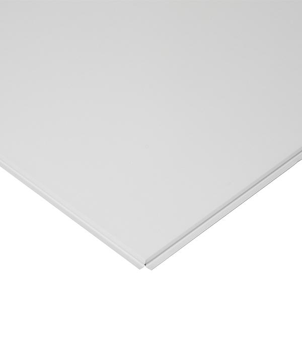 Плита к подвесному потолку кассетная Албес кромка Tegular 600х600 мм алюминиевая белая