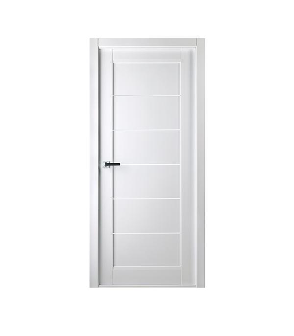 Дверное полотно Белвуддорс Мирелла шпонированное Бьянко нобиле 800x2000 мм без притвора