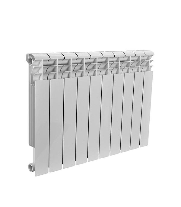Радиатор биметаллический 1 Rommer Profi 500, 10 секций радиатор отопления rommer optima bm 500 биметаллический 8 секций