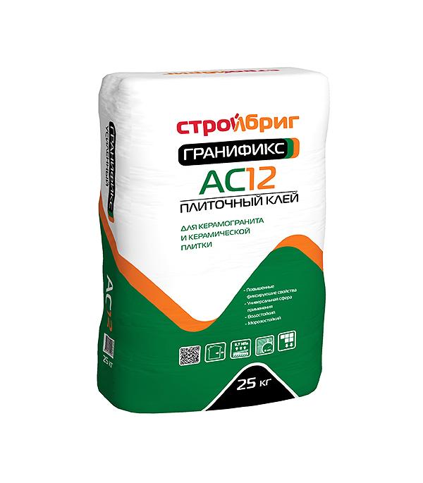 Клей для плитки Стройбриг Гранификс АС12 25 кг стяжка пола стройбриг цемерин fc40 для толстослойного выравнивания 25 кг