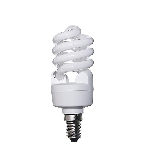 Лампа энергосберегающая E14, 15W, MiniTwist, 2700K (теплый свет), Osram