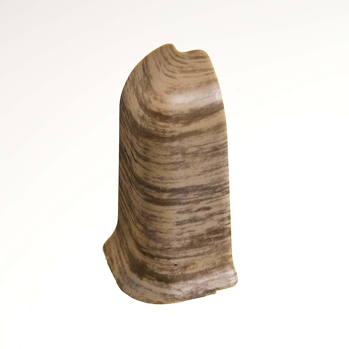 Угол наружный к плинтусу 68 мм королевский белый дуб Nexus