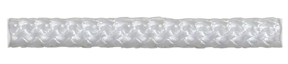 Шнур плетеный белый d6 мм полипропиленовый