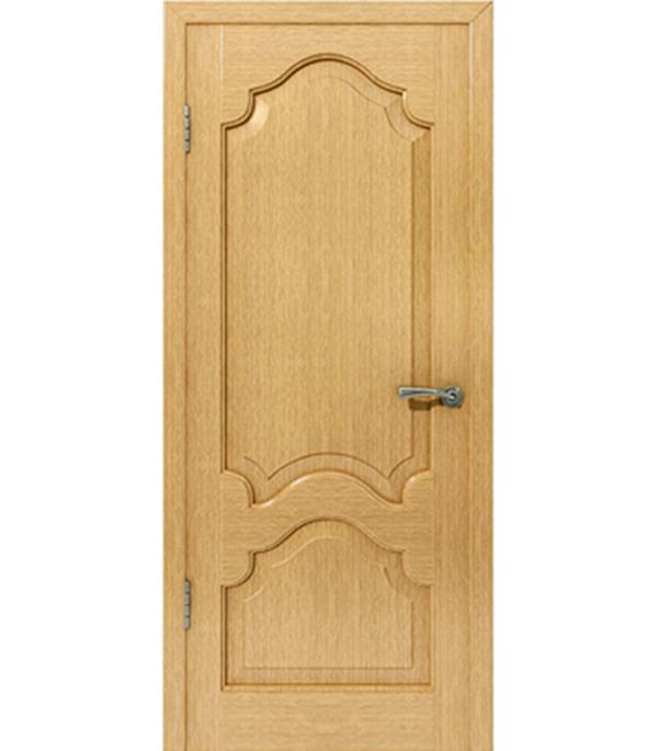 Дверное полотно  Верона  шпонированное Светлый дуб 600x2000 мм без притвора