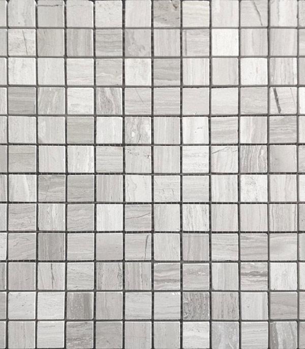 Мозаика из натурального камня 298х298х4 мм Travertino Silver /Карамелле
