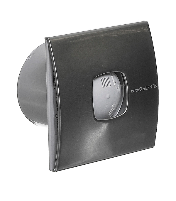 Вентилятор осевой Cata Silentis 10 Inox d100 мм серебристый вентилятор осевой cata mt 100 d100 мм белый