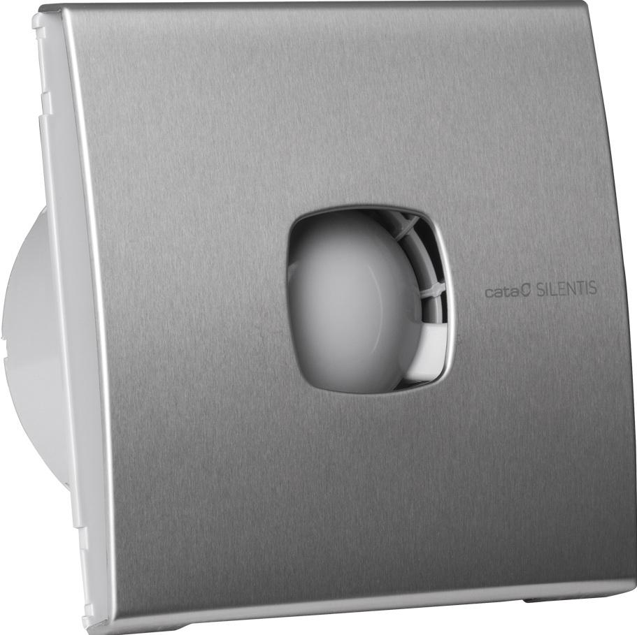 Вентилятор осевой d100 мм Cata Silentis 10 Inox, серебристый
