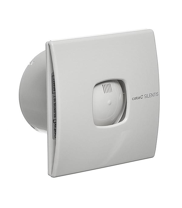 Вентилятор осевой Cata Silentis 10Т d100 мм с таймером белый канальный вентилятор cata duct in line 100 130 d100 мм белый