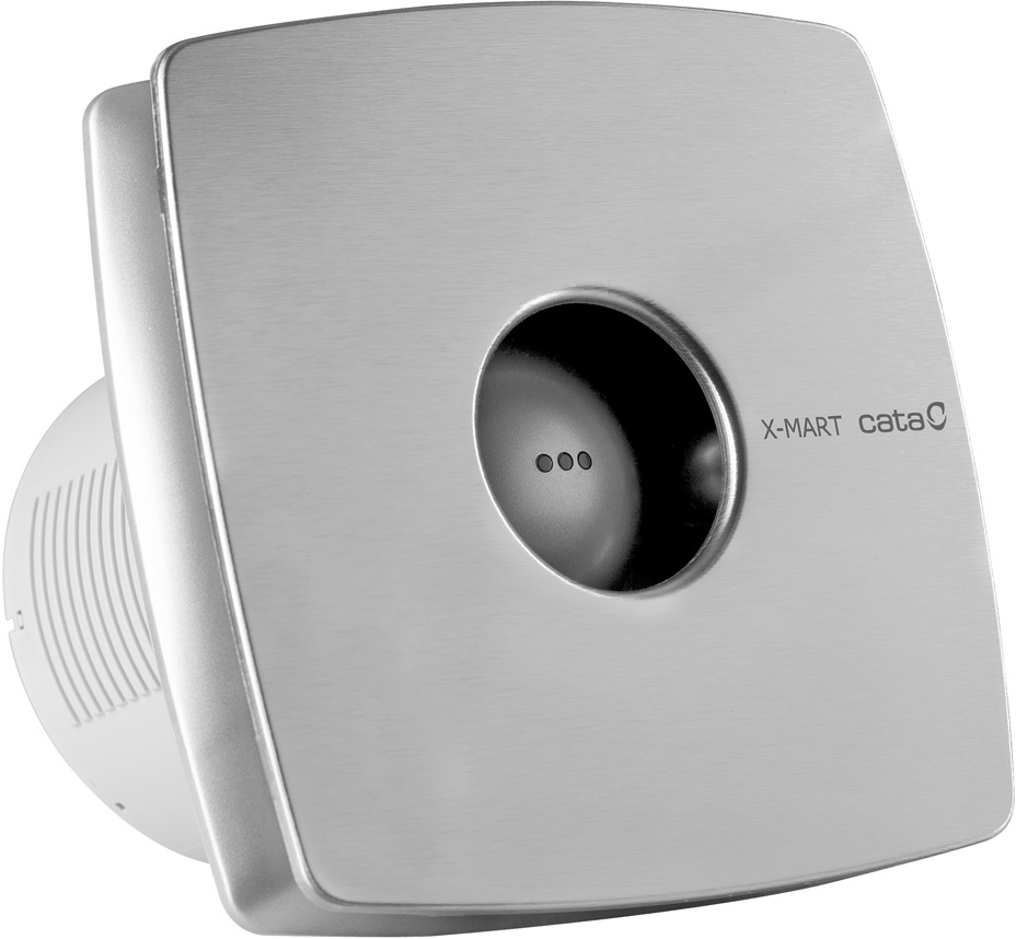 Вентилятор осевой d100 мм Cata X-Mart 10 Inox, серебристый