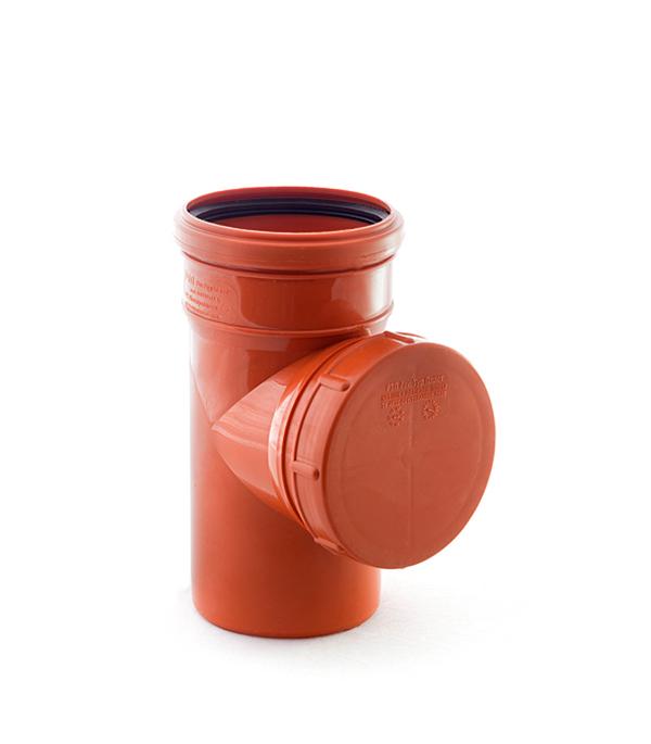 Ревизия наружная 110 мм однораструбная, РТП клапан обратный канализационный наружный 110 мм