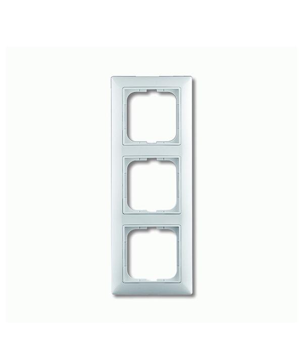 Рамка трехместная АВВ Basic 55 альпийский белый