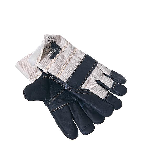 Перчатки из искусственной кожи, с усиленной ладонной частью, комбинированные, утепленные KWB Профи
