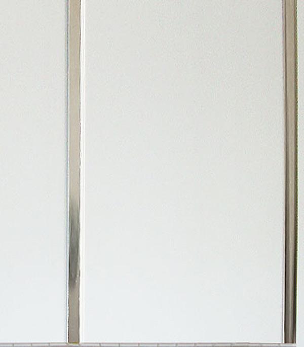 Панель ПВХ рейка двойная хром 250х2950х8,5 мм, Жемчужина