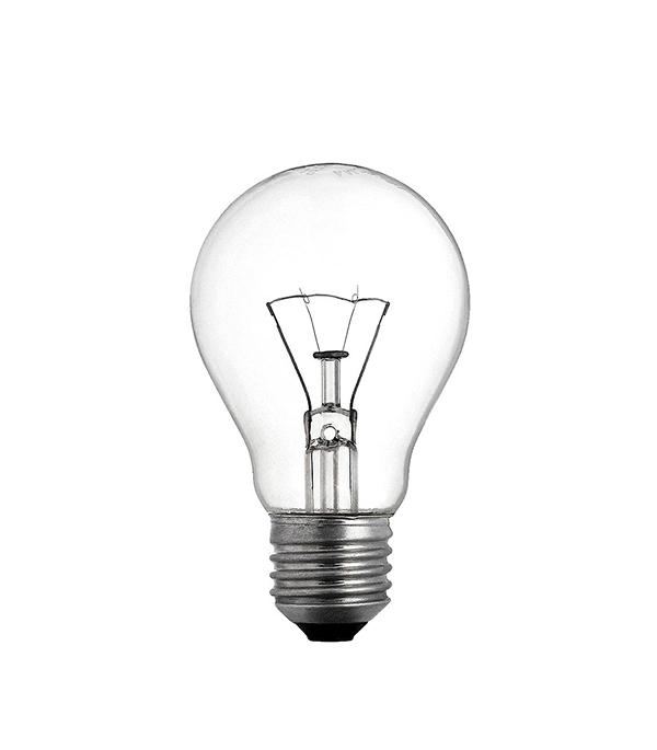 Лампа накаливания E27, 60W, груша, ЛОН
