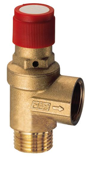 Клапан предохранительный автоматический Far 1/2 ВР/НР 3 бара для систем отопления