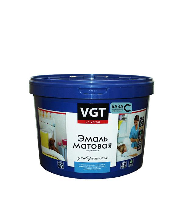 Эмаль универсальная матовая основа C VGT 10 кг