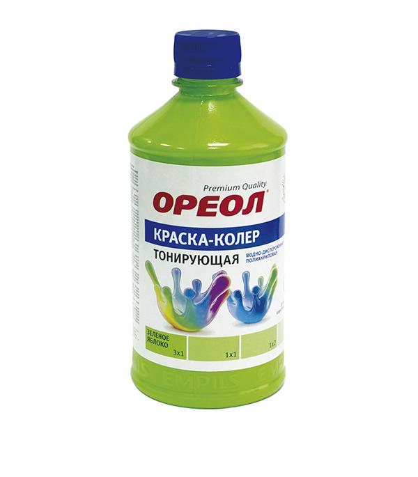 Колер краска зелёное яблоко Ореол 0,725 кг
