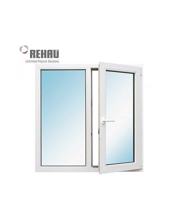 Окно металлопластиковое REHAU 1200х1200 мм 2 створки поворотно-откидное правое окно металлопластиковое rehau 1440х1160 мм белое 2 створки поворотно откидное правое поворотное