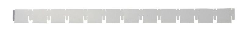 Элемент решетки серый металлик «папа» 10х40х600 мм, ячейка 50х50 мм Грильято